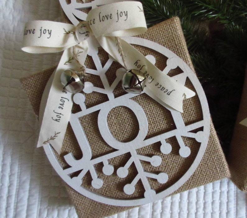 Christian Christmas Peace Joy WORD Art Burlap Canvas Christian Joy
