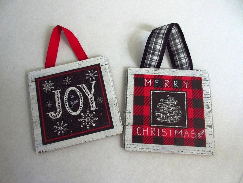 Christian Christmas Home Decor Merry Christmas Sign Joy in image 0