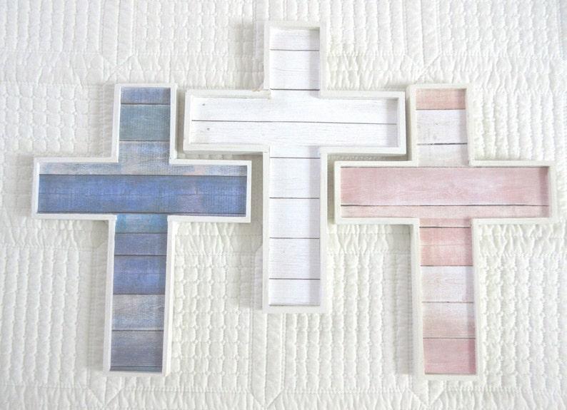 Driftwood Cross Shiplap Cross Wooden Cross Christian Wall image 0