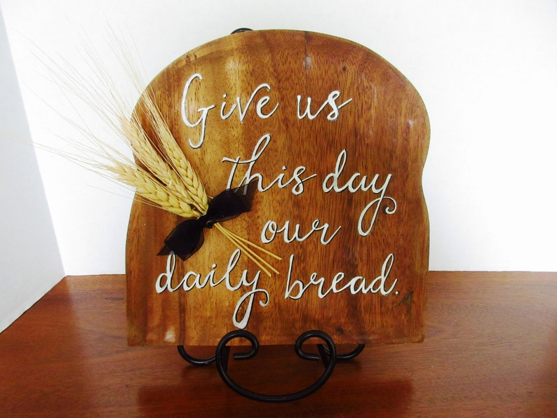 Give Us This Day Our Daily Bread Sign Gifts for Mom Breadboard image 0