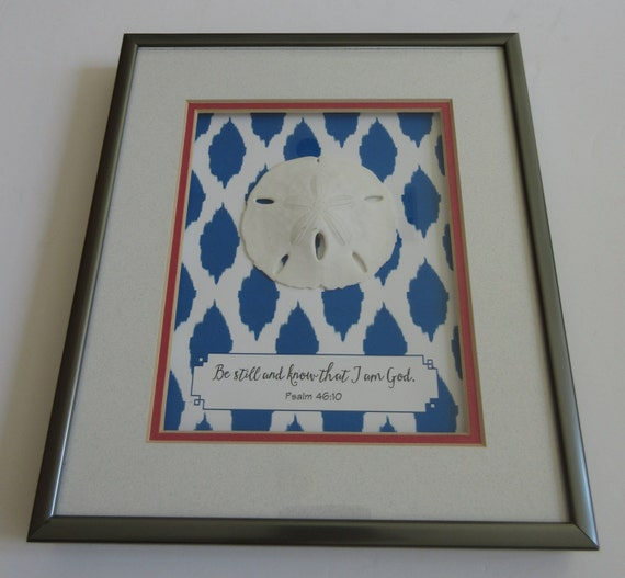 Be Still And Know Double Matted Shadowbox Frame With Sand Etsy