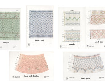 4919e1def8f0 Choice Smocking Plate Pattern - vintage Terry Collins smocking designs -  heirloom sewing - your choice