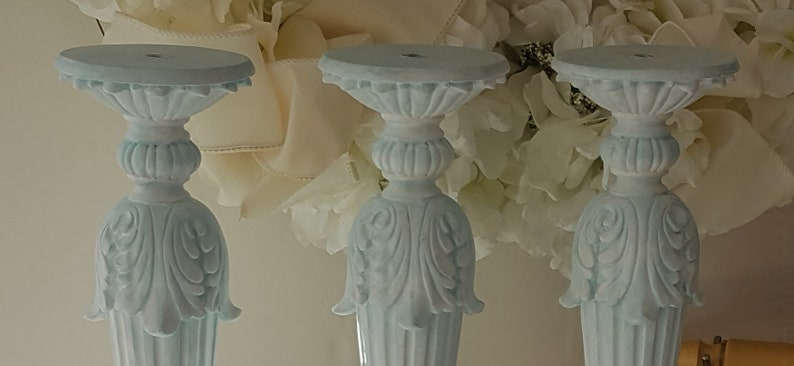Shabby French Candlestick French Blue Candle Holder French Country Candle Holder Shabby French Candle Holder Nordic French Candle Holder