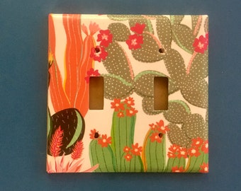 Double Light Switch Plate in Unicorn 158D