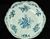 Antique Dr. Wall First Period Worcester Porcelain Pinecone Pattern Salad or Junket Bowl