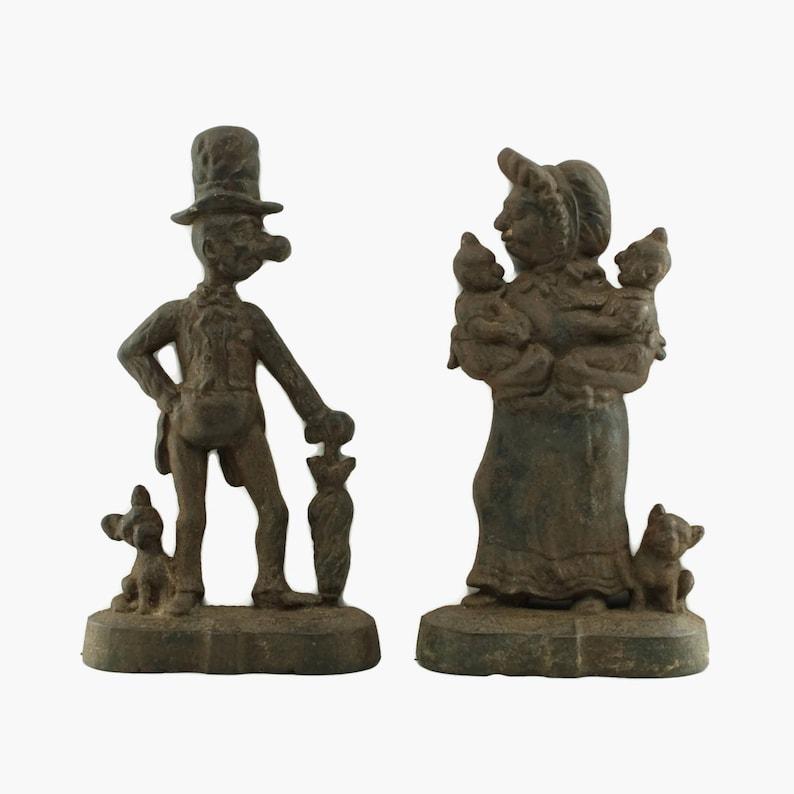 Türstopper ? Antike Bronze? Gusseisen ?hund Figuren