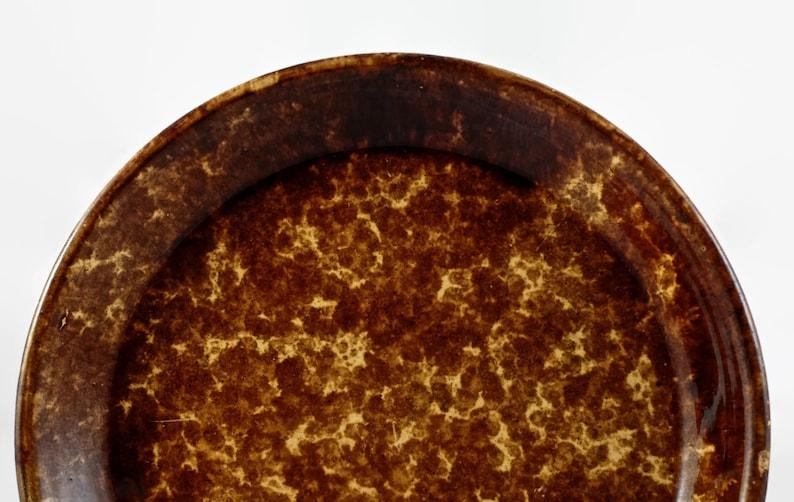 Antique Bennington Rockingham Glaze Yellow Ware Pie Plate