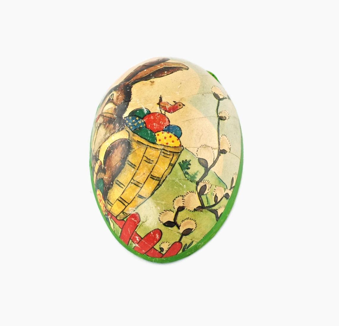 Vintage German Paper Mache Easter Egg