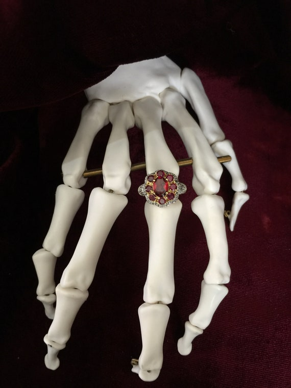 Gorgeous Lab Created Ruby & Diamond Ring
