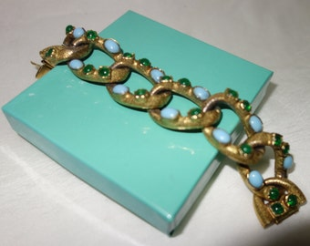 04a2e4acb85 Vintage YSL SCEMAMA for Yves Saint Laurent heavily textured Cabochon  Bracelet Small
