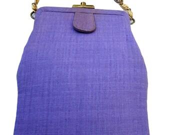 INGBER  Lavender Fabric Handbag Purse