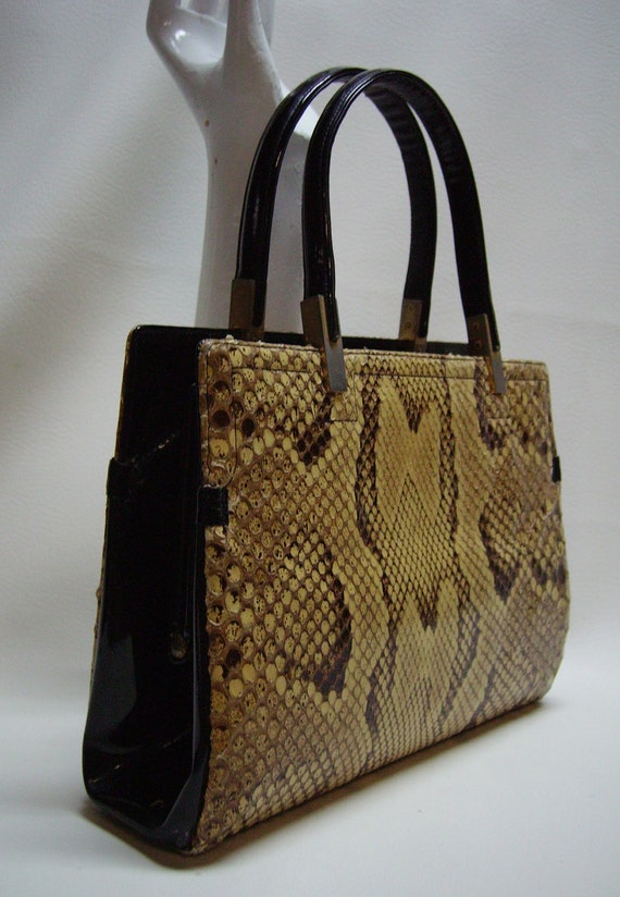 Vintage KORET Python Snakeskin Handbag - image 3