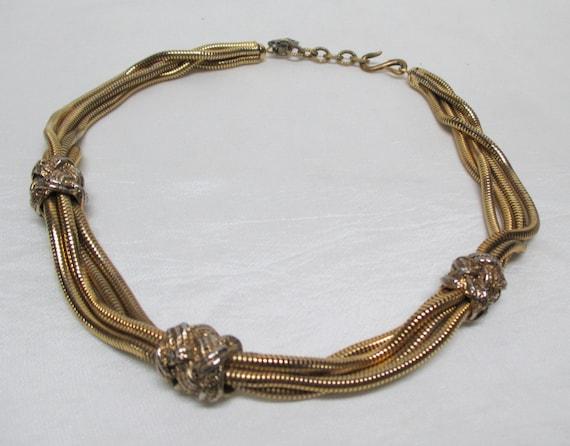 Vintage YSL Snake-chain Choker Necklace