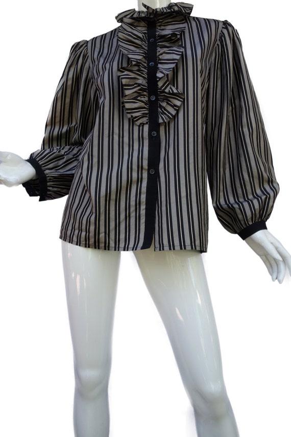 YSL Yves Saint Laurent Vintage Silk Taffeta Stripe