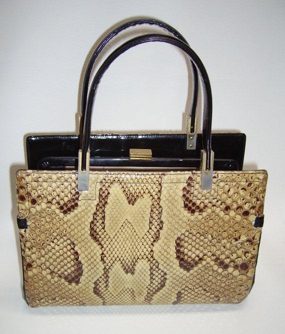 Vintage KORET Python Snakeskin Handbag - image 4