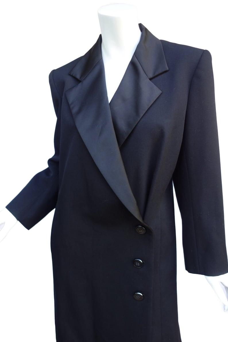 Yves Saint Laurent YSL Rive Gauche Black Evening Tuxedo Coat  a5244baebd306