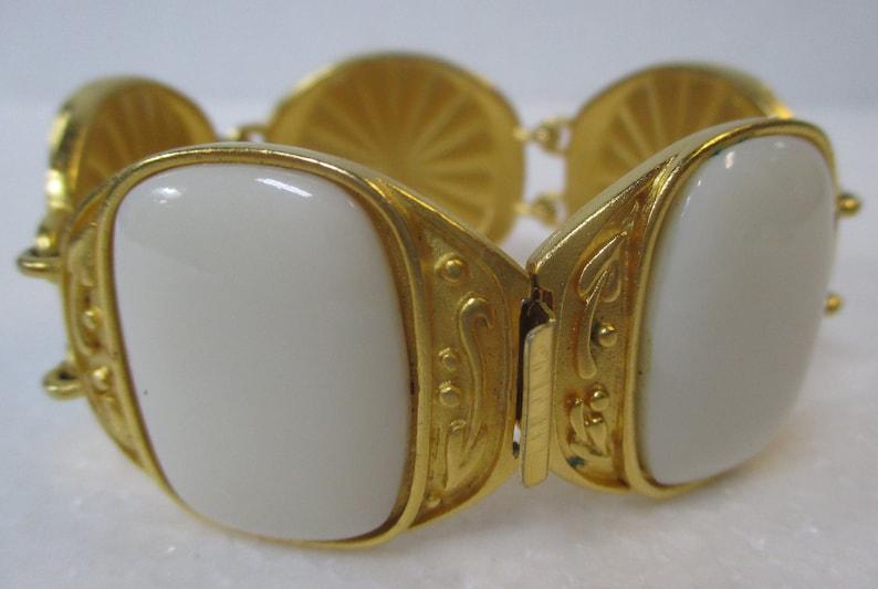 d6eec35311b Vintage YSL Yves Saint Laurent Ornate Gilt and Ivory Glass | Etsy