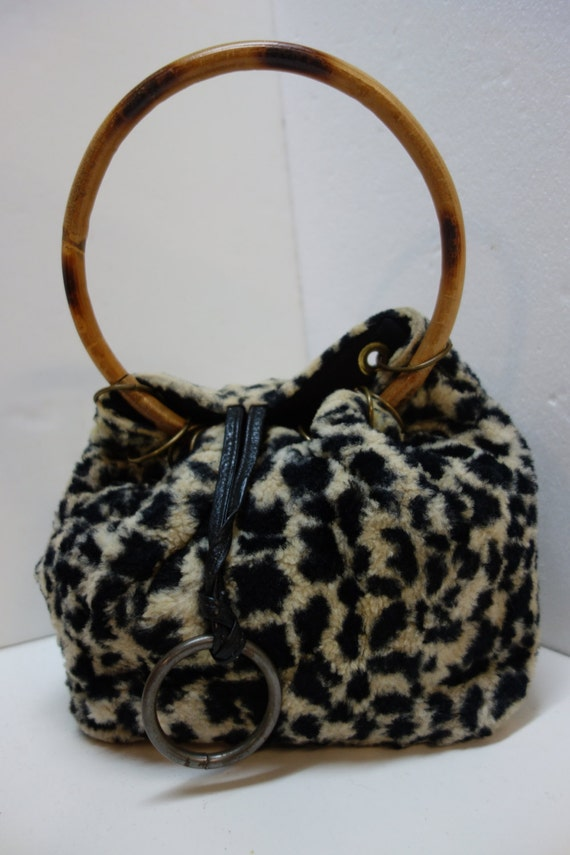 Vintage ROGER VAN S. Animal Print Purse with Round