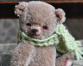 "Hand made mini/miniature mohair artist teddy bear - 'George' - 4.25"""