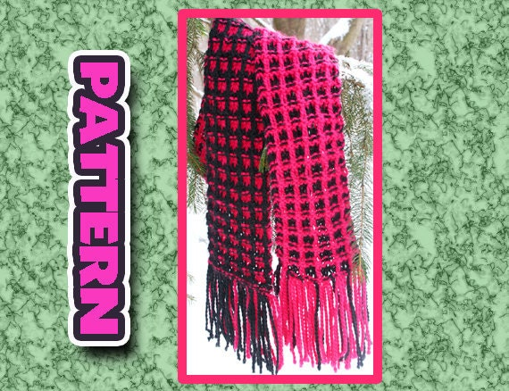Pdf Two Color Knit Scarf Pattern Quick Knit Super Soft Easy Etsy