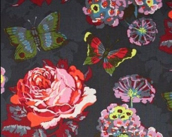 Anna Maria Horner - Loulouthi - Clippings - Passion Fruit - Free Spirit Fabrics - half yard increments