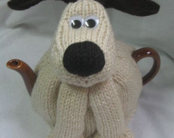 Dog Tea Cosy - KNITTING PATTERN -  pdf file by automatic download