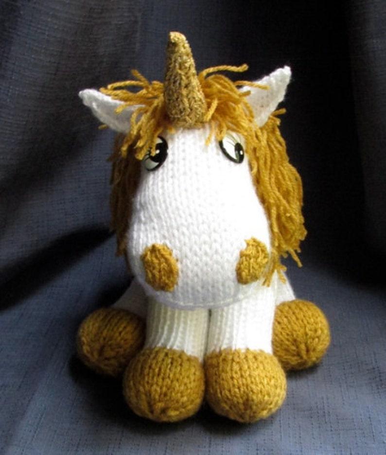 Toy Unicorn KNITTING PATTERN pdf file by automatic   Etsy