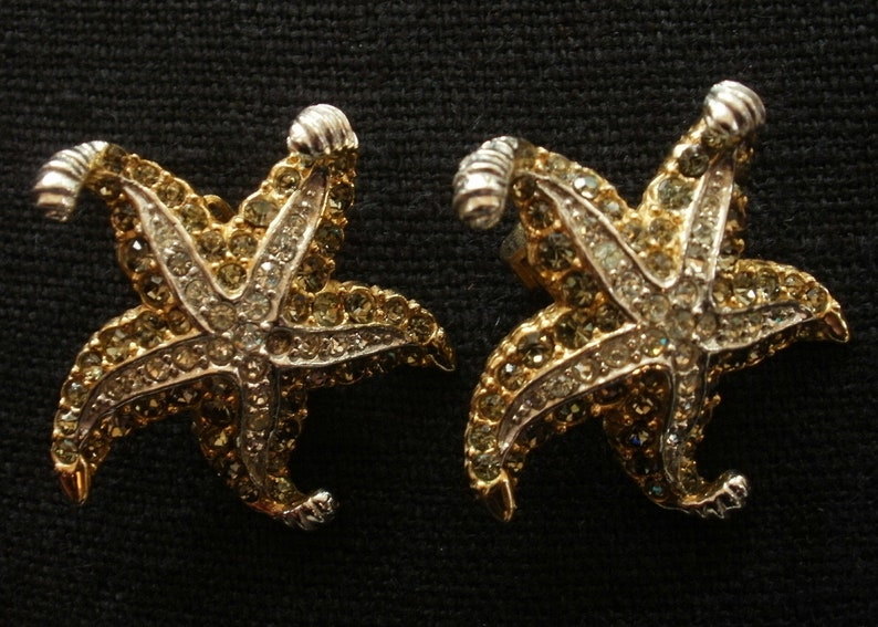 Signed BOUCHER STARFISH Pin Missing Stone Replace from Free Earrings