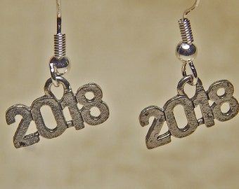 Gold or Silver Plated 2018 Earrings