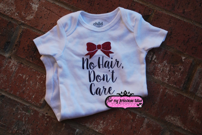 06fc13143 No Hair Don't Care Onesie baby onesie funny onesie | Etsy