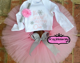First Birthday Winter Outfit Snow Much Fun outfit baby girl first birthday pink and silver first birthday set, winter birthday