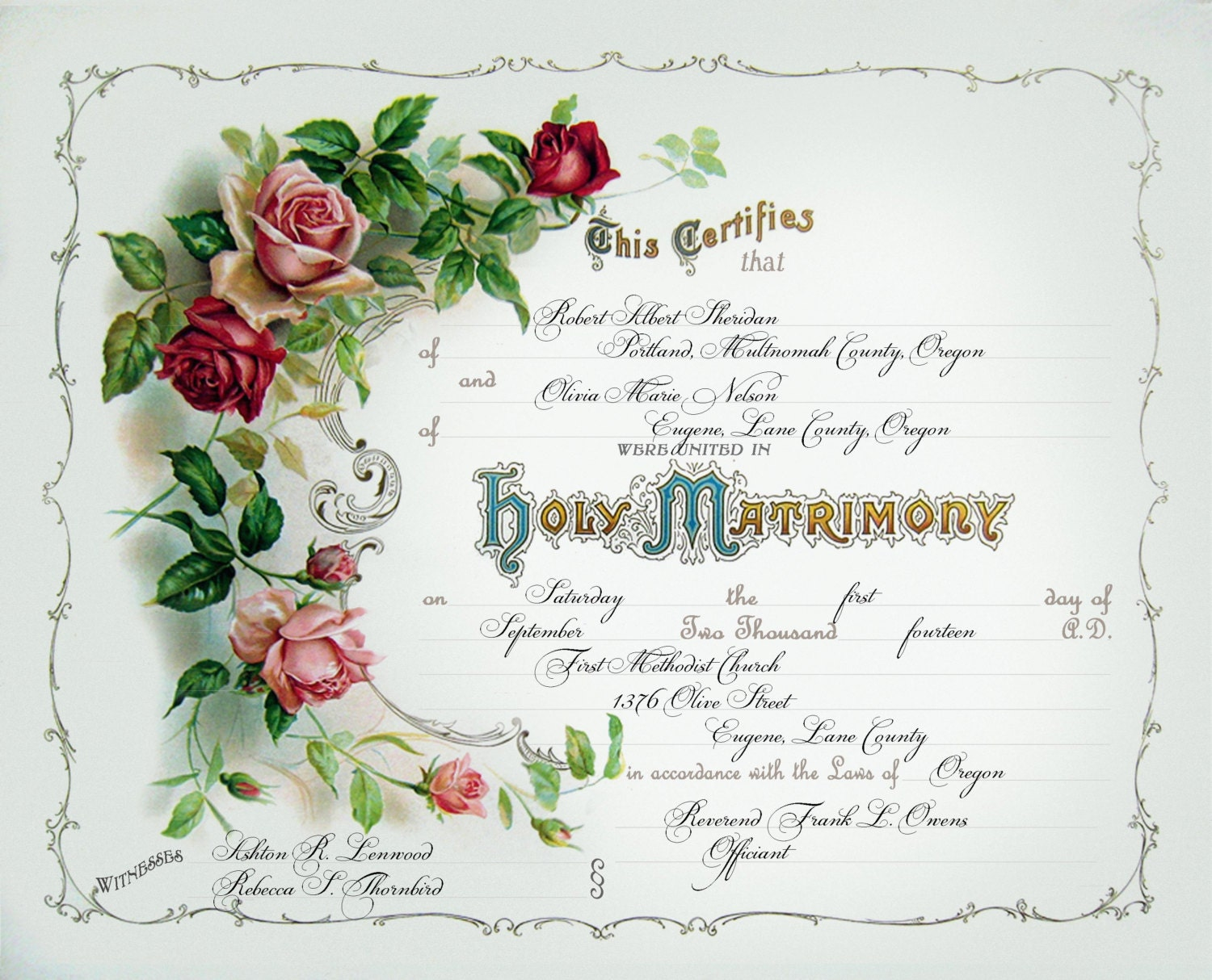 It's just a picture of Revered Wedding Certificates Templates