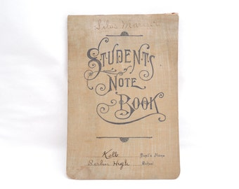 Antique Students Note Book