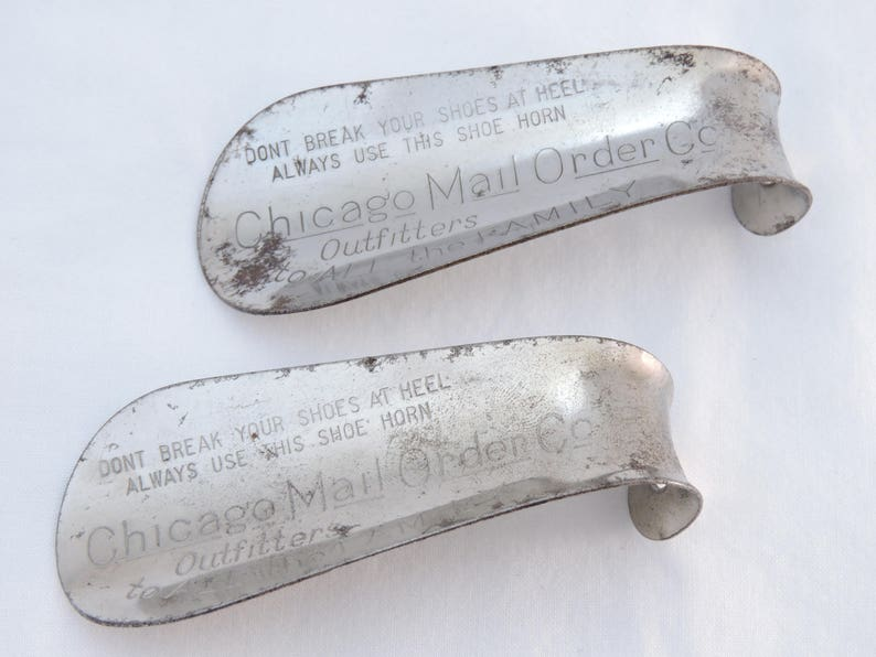 fd3e0b84213 Lot of 2 Vintage Chicago Mail Order Co. Metal Advertising