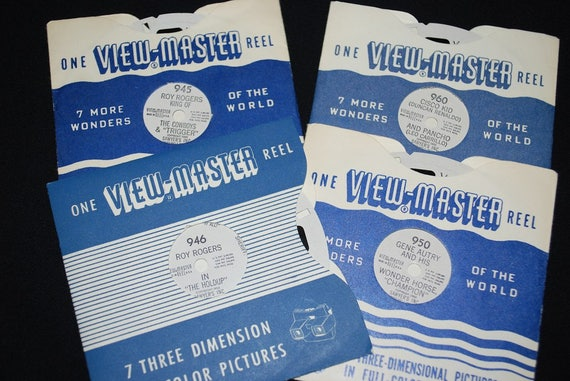 Vintage 1950s Sawyers View Master Reels Lot Of 4