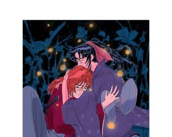 Kenshin + Kaoru // Rurouni Kenshin (Print)