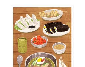 Korean Food (Print)