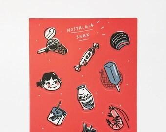 "Nostalgia Snax (4"" x 6"" Sticker Sheet)"