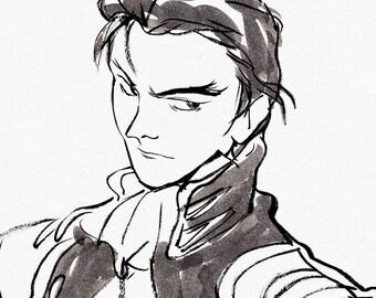 "Treize Khushrenada // Gundam Wing (8.5""x11"" Cotton Prints)"