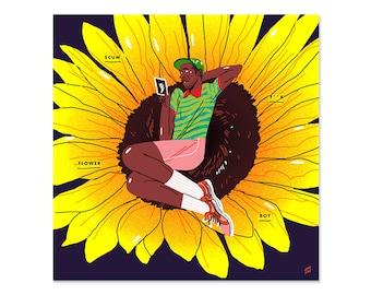 "Flower Boy // Tyler the Creator (5""x5"" Mini-print)"