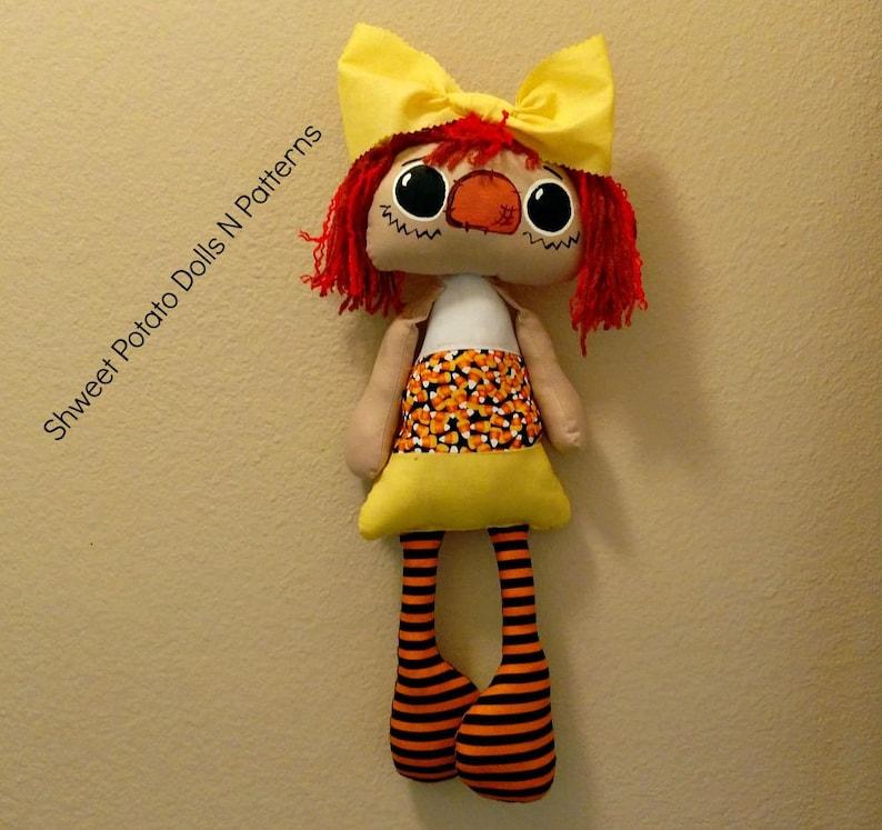 Handmade Raggedy Candy Corn Annie Shweet Potato Doll Halloween image 0