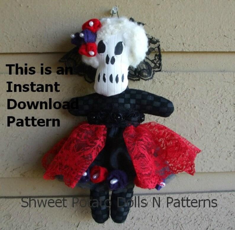 Día de Muertos Day of the Dead Art Doll  ePattern PDF Instant image 0