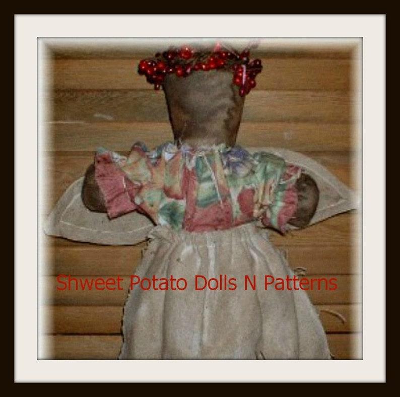 Stump Doll Angel ePattern Primitive Instant Download Digital image 0