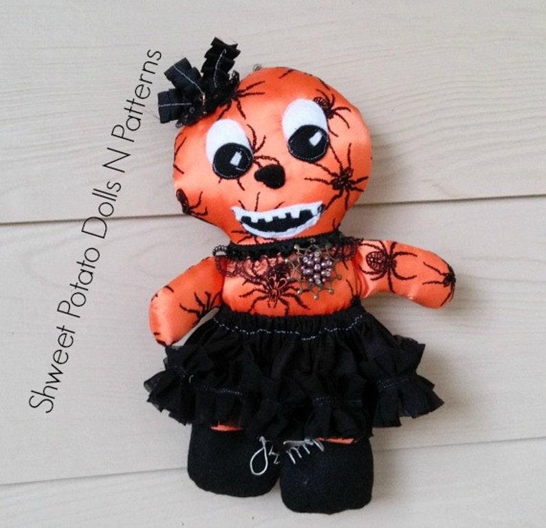 Primitive Gothic Pumpkin Girl  Cloth Doll Art Doll image 0