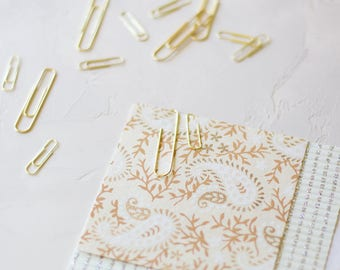 Gold Metal Paper Clips - Small 50 pc / Large 25 pc