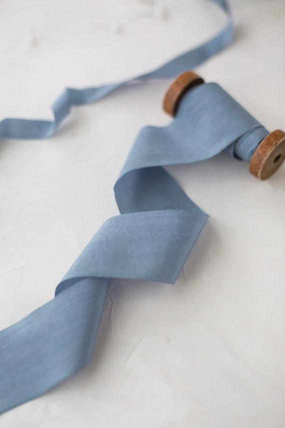 Silver Gray Wrinkled Faux Dupioni Silk Ribbon \u2022 12 \u2022 1 \u2022 1-12 \u2022 2-12