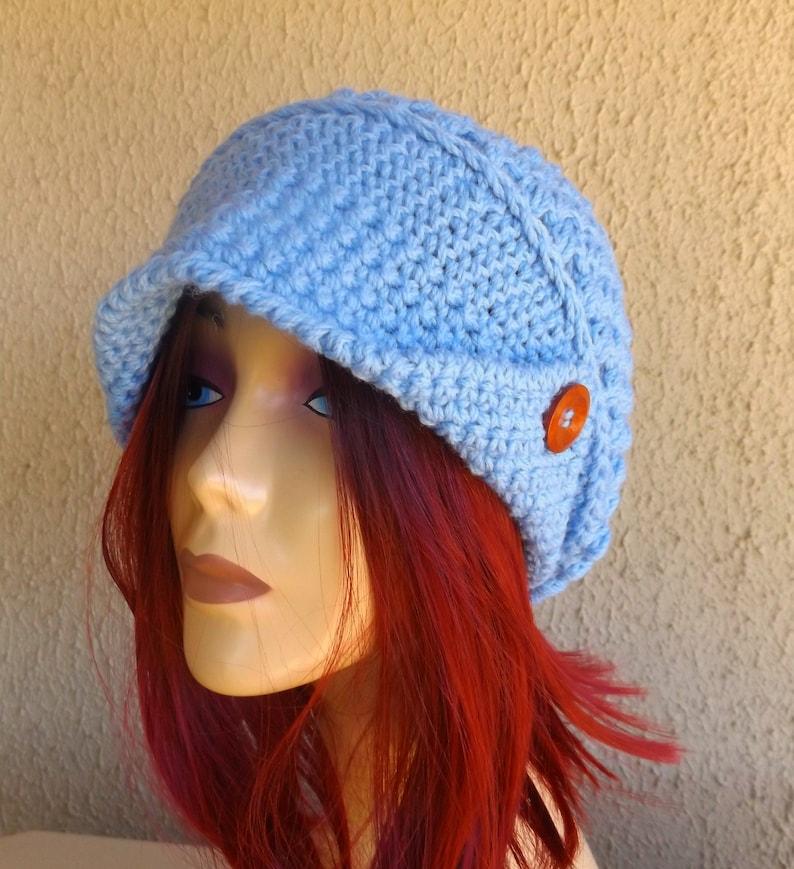 339415f3 Handmade Womens Slouchy Beanie Crochet Newsboy Hat Winter | Etsy