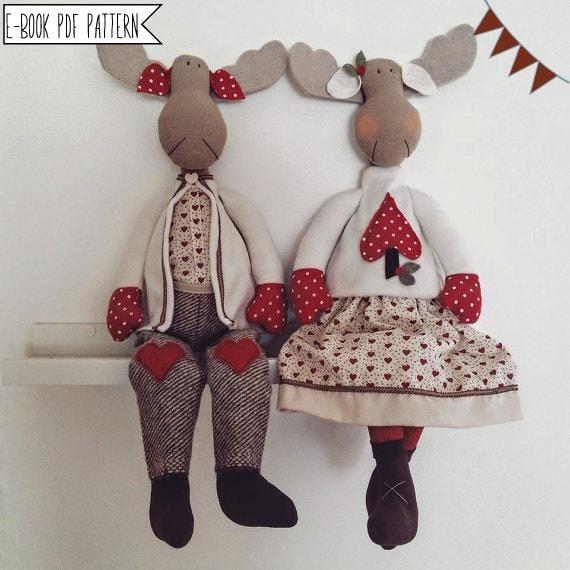 PDF Nähen Muster Rentiere-Tutorial Weihnachtsmann | Etsy