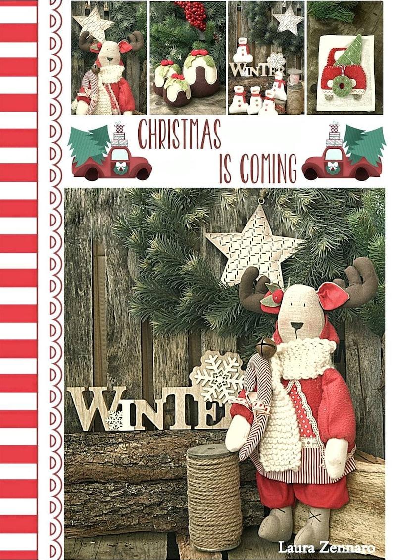 Pdf sewing pattern Reindeers-Christmas ornaments tree-sewing image 0