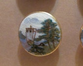 Reduced Rare porcelain Satsuma button set of 12, porcelain, mint condition, SL1